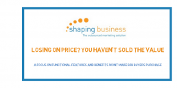 Value proposition-losing-on-price